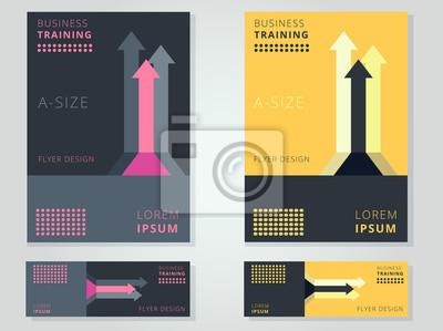 Abstract business corporate flyer / broschüre deckblatt / vorlage ...