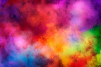 Bild Abstract clouds of color smoke colorful texture background. Colored fluid powder explosion, dust, vape smoke liquid abstract clouds design for poster, banner, web, landing page, cover. 3D illustration
