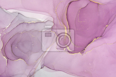 Bild  Abstract colorful background, wallpaper. Mixing acrylic paints. Modern art. Marble texture. Alcohol ink colors  translucent