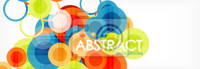 Bild Abstract colorful geometric composition - multicolored circle background