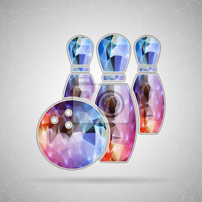 Bild Abstract Creative concept vector icon of Bowling for Web and