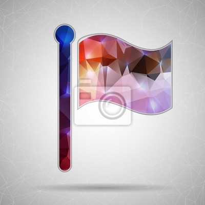 Bild Abstract Creative concept vector icon of flag for Web and Mobile