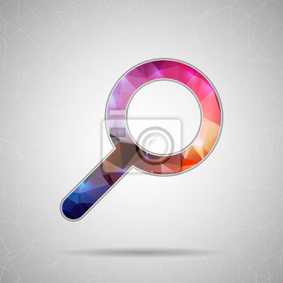 Bild Abstract Creative concept vector icon of magnifier for Web and