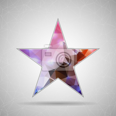 Bild Abstract Creative concept vector icon of star for Web and Mobile
