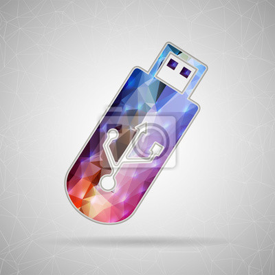 Bild Abstract Creative concept vector icon of Usb for Web and Mobile