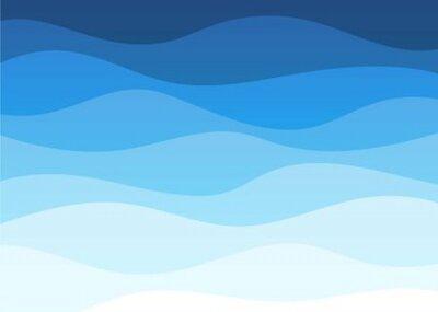 Bild Abstract deep blue wave alternating banner vector background illustration