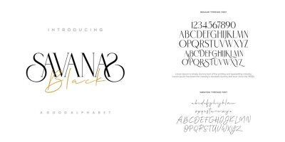 Bild Abstract Fashion font alphabet. Minimal modern urban fonts for logo, brand etc. Typography typeface uppercase lowercase and number. vector illustration