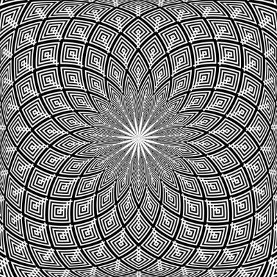 Abstract geometric 3D rotation pattern.  Decorative design.