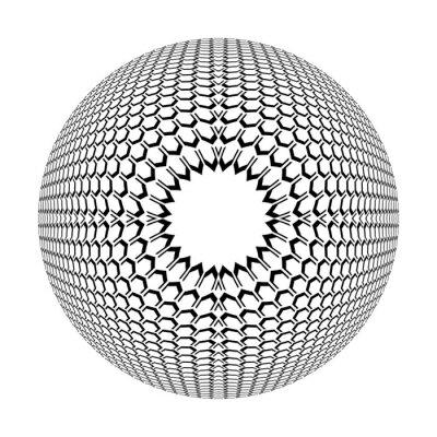 Abstract geometric circle rotation pattern. 3D illusion.