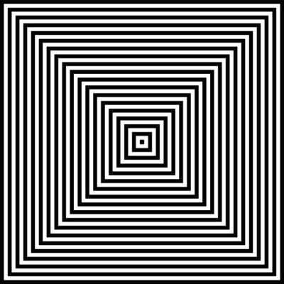 Abstract geometric op art design. Square lines pattern.