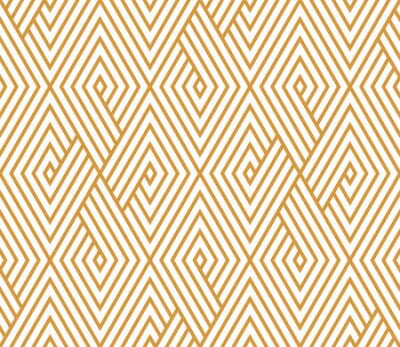 Bild Abstract geometric pattern with stripes, lines. Seamless vector background. White and gold ornament. Simple lattice graphic design
