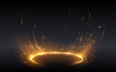Bild Abstract golden light circle effect