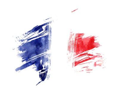 Bild Abstract grunge flag of France