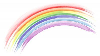 Bild Abstract hand painted rainbow watercolor