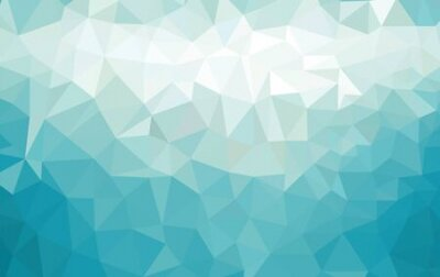 Bild Abstract low poly background of triangles in blue colors