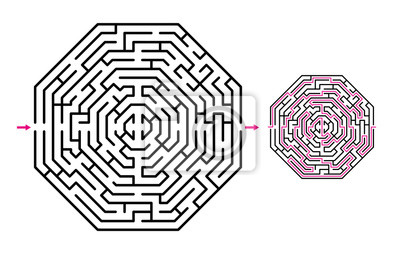 Bild Abstract maze / labyrrinth with entry and exit. Vector labyrinth 275.