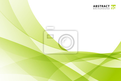 Bild Abstract modern light green wave element on white background with copy space.