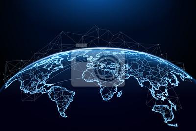 Bild Abstract of world network
