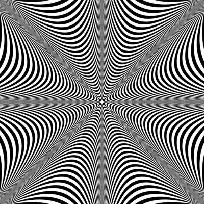 Abstract op art design. Lines texture.