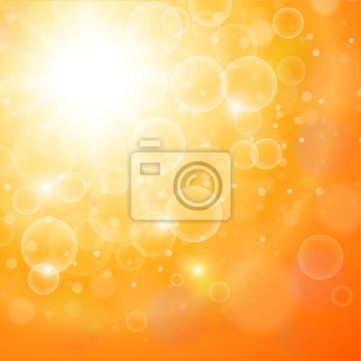 Bild Abstract orange Hintergrund sonnig