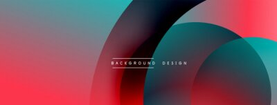 Bild Abstract overlapping lines and circles geometric background with gradient colors