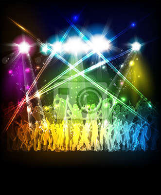 Abstract party klingen Hintergrund mit tanzenden Menschen