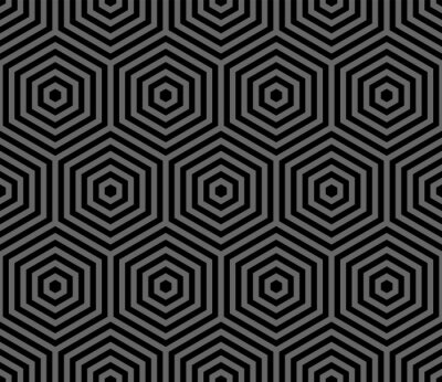 Abstract seamless geometric hexagons pattern.