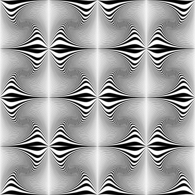 Abstract seamless op art pattern with lines texture.