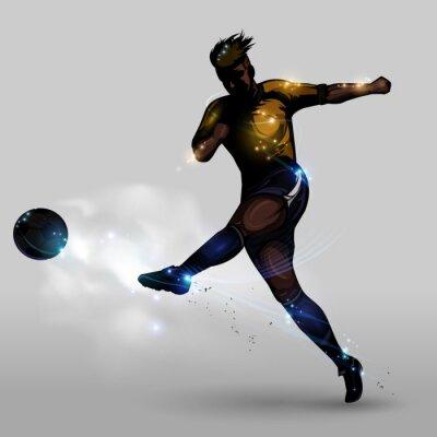 Bild Abstract soccer power shooting