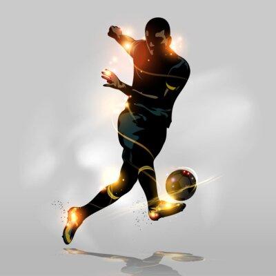 Bild Abstract soccer quick shooting