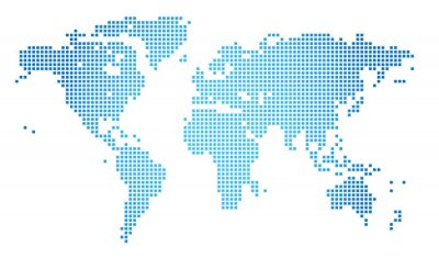 Bild Abstract vector illustration of a dotted worldmap