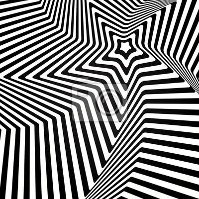 Abstract vector optische Illusion in schwarz und weiß