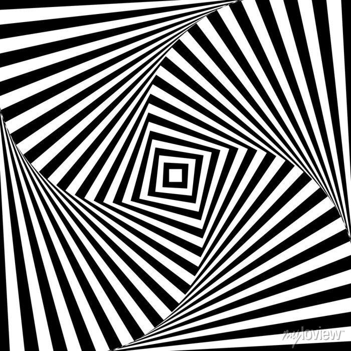 Bild Abstract vector optische Illusion in schwarz und weiß