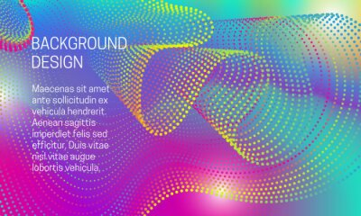 Abstract vibrant background with iridescent points dispersion.