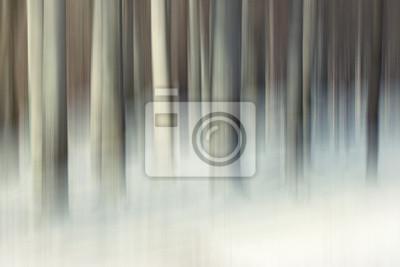 Abstract Winter Wald-Szene