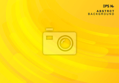 Bild Abstract yellow geometric background and dynamic curve fluid motion shapes composition.