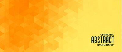 Bild abstract yellow geometric pattern banner design