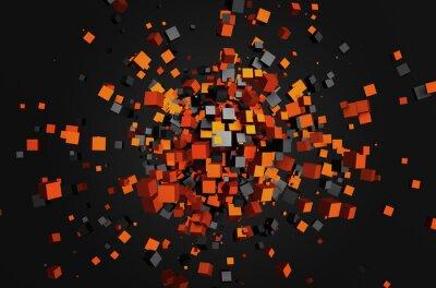 Bild Abstrakt 3D-Rendering von fliegenden Würfel.