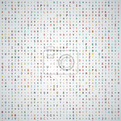 Abstrakt Alphabet Hintergrund
