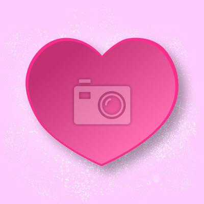 Abstrakt Herz Aus Papier Vector Liebe Leinwandbilder Bilder