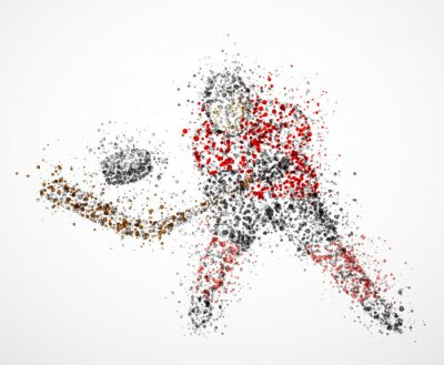 Bild Abstrakt Hockeyspieler