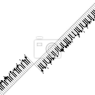 Abstrakt Klavier konzipiert Hintergrund