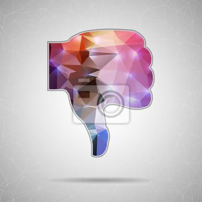 Bild Abstrakt Kreatives Konzept Vektor-Symbol der Daumen nach unten für Web und