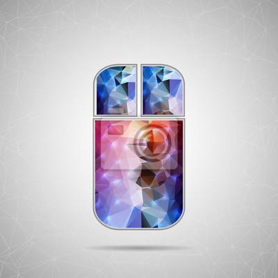 Bild Abstrakt Kreatives Konzept Vektor-Symbol der Maus für Web und