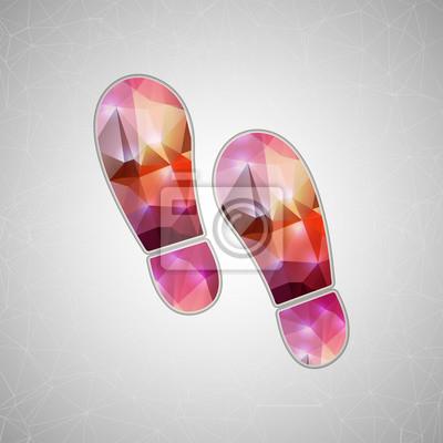 Bild Abstrakt Kreatives Konzept Vektor-Symbol von Footprint für Web und