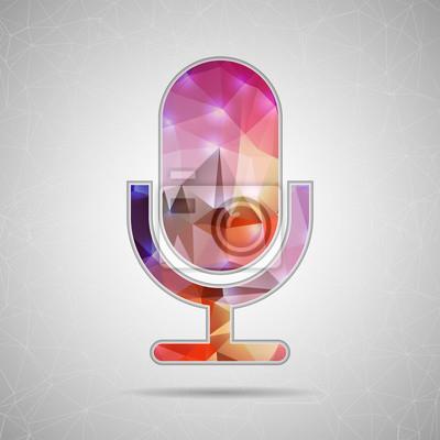 Bild Abstrakt Kreatives Konzept Vektor-Symbol von Mikrofon für Web und