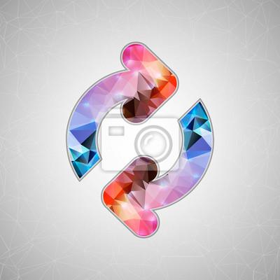 Bild Abstrakt Kreatives Konzept Vektor-Symbol von Pfeilen für Web und mobile Anwendungen auf hintergrund isoliert. Vektor-Illustration Template-Design, Business-Infografik und Social Media, Origami Symbole
