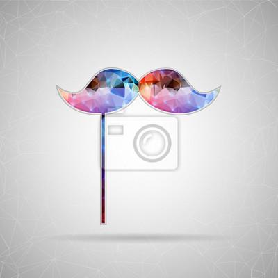 Bild Abstrakt Kreatives Konzept Vektor-Symbol von Schnurrbart für Web und