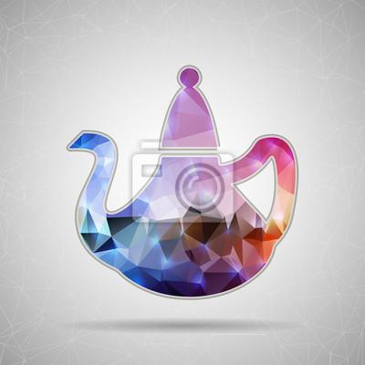 Bild Abstrakt Kreatives Konzept Vektor-Symbol von Teekanne für Web und