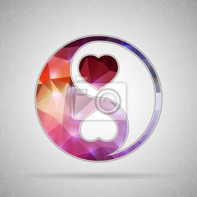 Bild Abstrakt Kreatives Konzept Vektor-Symbol von Yin Yang für Web und